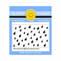 Sunny Studio Stamps - Clear Photopolymer Stamps - Rain Showers