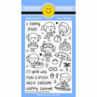 Sunny Studio Stamps - Clear Photopolymer Stamps - Beach Babies