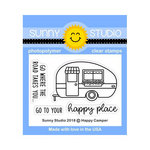 Sunny Studio Stamps - Clear Acrylic Stamps - Happy Camper