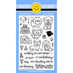 Sunny Studio Stamps - Clear Acrylic Stamps - Party Pups