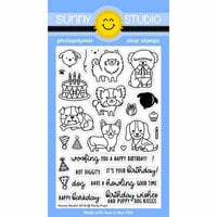 Sunny Studio Stamps - Clear Photopolymer Stamps - Party Pups