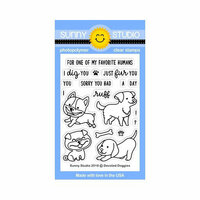 Sunny Studio Stamps - Clear Photopolymer Stamps - Devoted Doggies