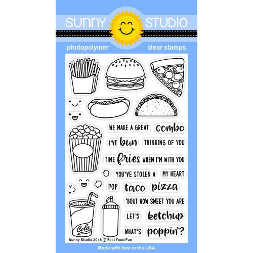 Sunny Studio Stamps - Clear Photopolymer Stamps - Fast Food Fun