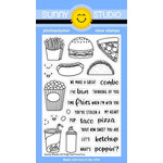 Sunny Studio Stamps - Clear Acrylic Stamps - Fast Food Fun