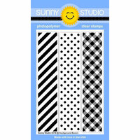 Sunny Studio Stamps - Clear Photopolymer Stamps - Background Basics