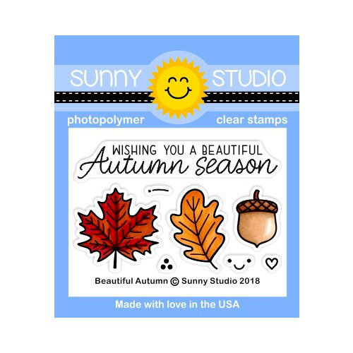 Sunny Studios Stamp Beautiful Autumn Stamp Set