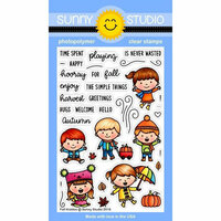 Sunny Studio Stamps - Clear Photopolymer Stamps - Fall Kiddos
