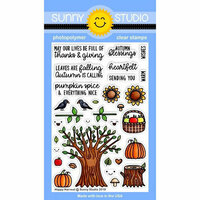 Sunny Studio Stamps - Clear Photopolymer Stamps - Happy Harvest