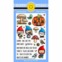Sunny Studio Stamps - Clear Photopolymer Stamps - Home Sweet Gnome