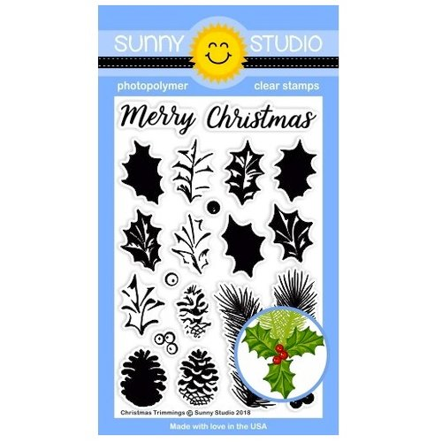 Sunny Studio Stamps - Christmas - Clear Photopolymer Stamps - Christmas Trimmings