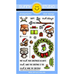 Sunny Studio Stamps - Christmas - Clear Photopolymer Stamps - Happy Owlidays