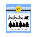 Sunny Studio Stamps - Christmas - Clear Photopolymer Stamps - Here Comes Santa