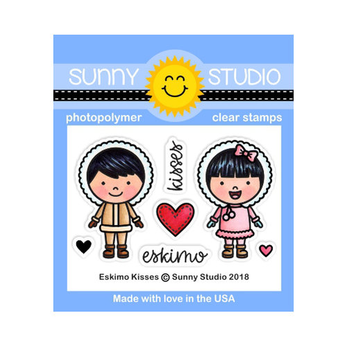 Sunny Studio Stamps - Christmas - Clear Photopolymer Stamps - Eskimo Kisses