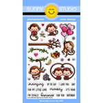 Sunny Studio Stamps - Clear Photopolymer Stamps - Love Monkey