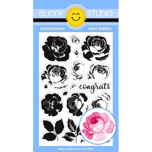 Sunny Studio Stamps Everything's Rosy stamp set