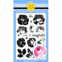 Sunny Studio Stamps - Clear Photopolymer Stamps - Everything's Rosy