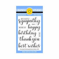 Sunny Studio Stamps - Clear Photopolymer Stamps - Everyday Greetings