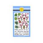 Sunny Studio Stamps - Clear Photopolymer Stamps - Fabulous Flamingos