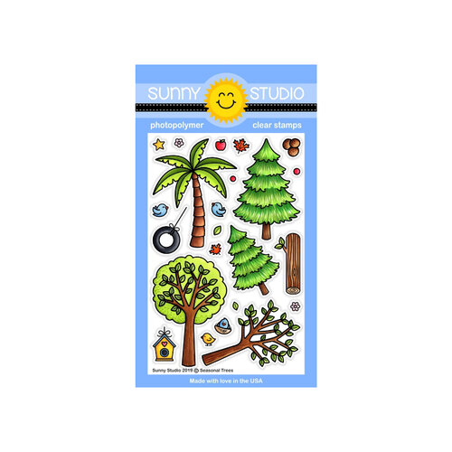 Sunny Studio Stamps - Clear Photopolymer Stamps - Seasonal Trees