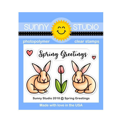 Sunny Studio Stamps - Clear Photopolymer Stamps - Spring Greetings
