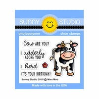Sunny Studio Stamps - Clear Photopolymer Stamps - Miss Moo