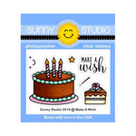 Sunny Studio Stamps - Clear Photopolymer Stamps - Make A Wish