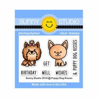 Sunny Studio Stamps - Clear Photopolymer Stamps - Puppy Dog Kisses