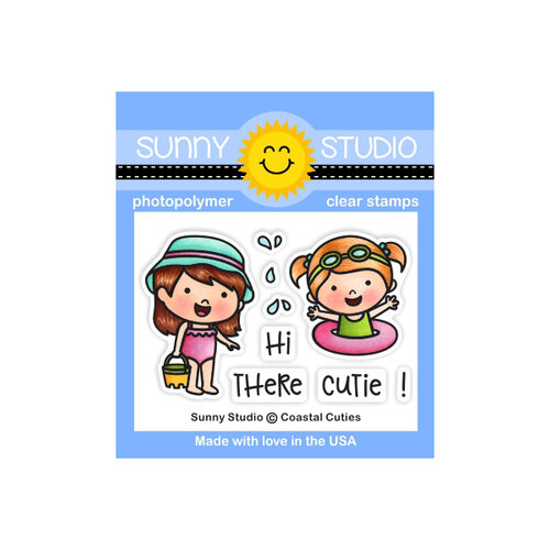 Sunny Studio Stamps - Clear Photopolymer Stamps - Coastal Cuties