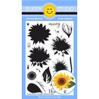 Sunny Studio Stamps - Clear Photopolymer Stamps - Sunflower Fields