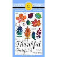 Sunny Studio Stamps - Clear Photopolymer Stamps - Elegant Leaves