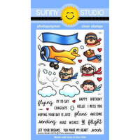 Sunny Studio Stamps - Clear Photopolymer Stamps - Plane Awesome