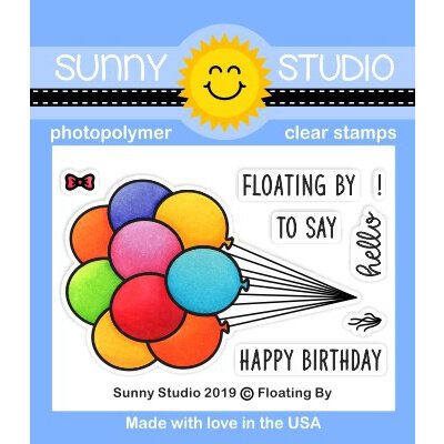 Sunny Studio Stamps - Clear Photopolymer Stamps - Floating By