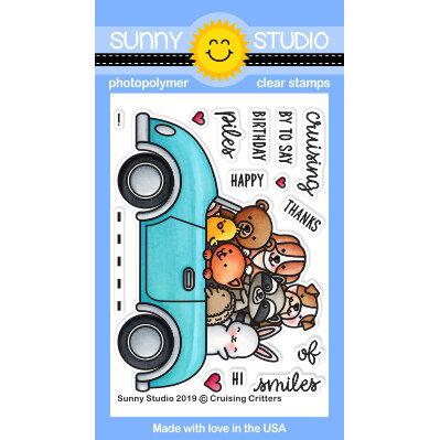 Sunny Studio Stamps - Clear Photopolymer Stamps - Cruising Critters