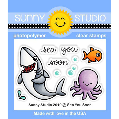 Sunny Studio Stamps - Clear Photopolymer Stamps - Sea You Soon
