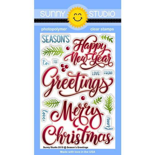Sunny Studio Stamps - Christmas - Clear Photopolymer Stamps - Season's Greetings