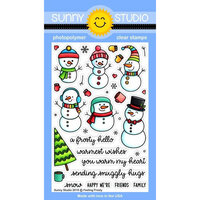Sunny Studio Stamps - Christmas - Clear Photopolymer Stamps - Feeling Frosty