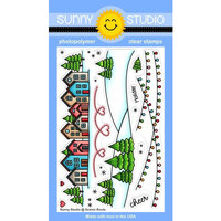 Sunny Studio Stamps - Christmas - Clear Photopolymer Stamps - Scenic Route