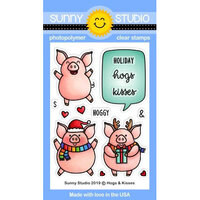 Sunny Studio Stamps - Christmas - Clear Photopolymer Stamps - Hogs & Kisses