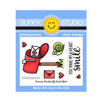 Sunny Studio Stamps - Clear Photopolymer Stamps - Snail Mail