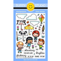 Sunny Studio Stamps - Clear Photopolymer Stamps - Spring Showers
