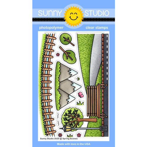 Sunny Studio Stamps - Clear Photopolymer Stamps - Spring Scenes