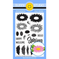 Sunny Studio Stamps - Clear Photopolymer Stamps - Cheerful Daisies