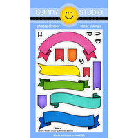 Sunny Studio Stamps - Clear Photopolymer Stamps - Banner Basics
