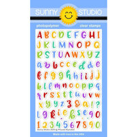Sunny Studio Stamps - Clear Photopolymer Stamps - Phoebe Alphabet