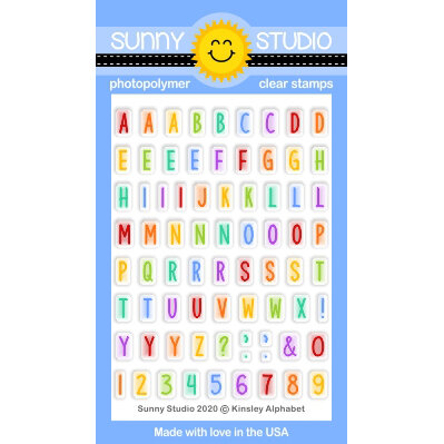 Sunny Studio Stamps - Clear Photopolymer Stamps - Kinsley Alphabet