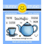 Sunny Studio Stamps - Clear Photopolymer Stamps - Tea-riffic