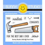 Sunny Studio Stamps - Clear Photopolymer Stamps - Tool Time