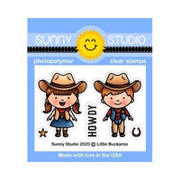 Sunny Studio Stamps - Clear Photopolymer Stamps - Little Buckaroo