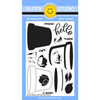 Sunny Studio Stamps - Clear Photopolymer Stamps - Potted Rose