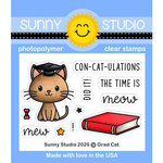 Sunny Studio Stamps - Clear Photopolymer Stamps - Grad Cat
